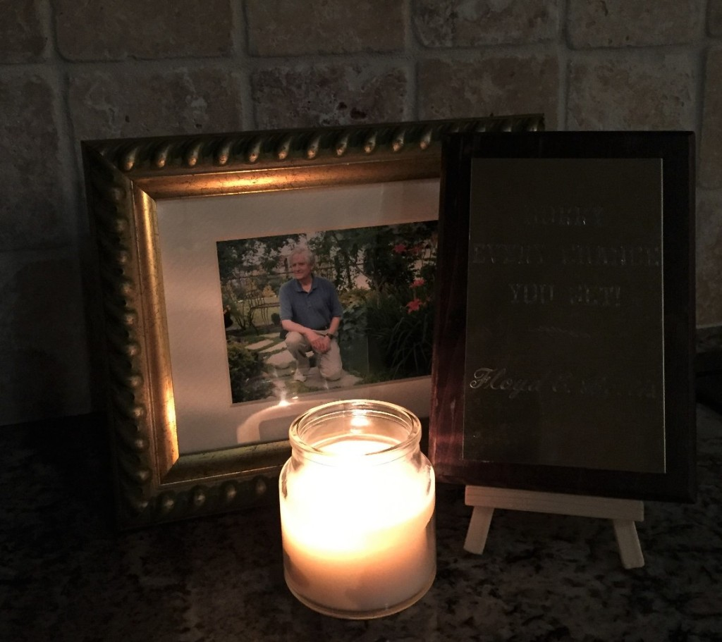 Image of older man and candle