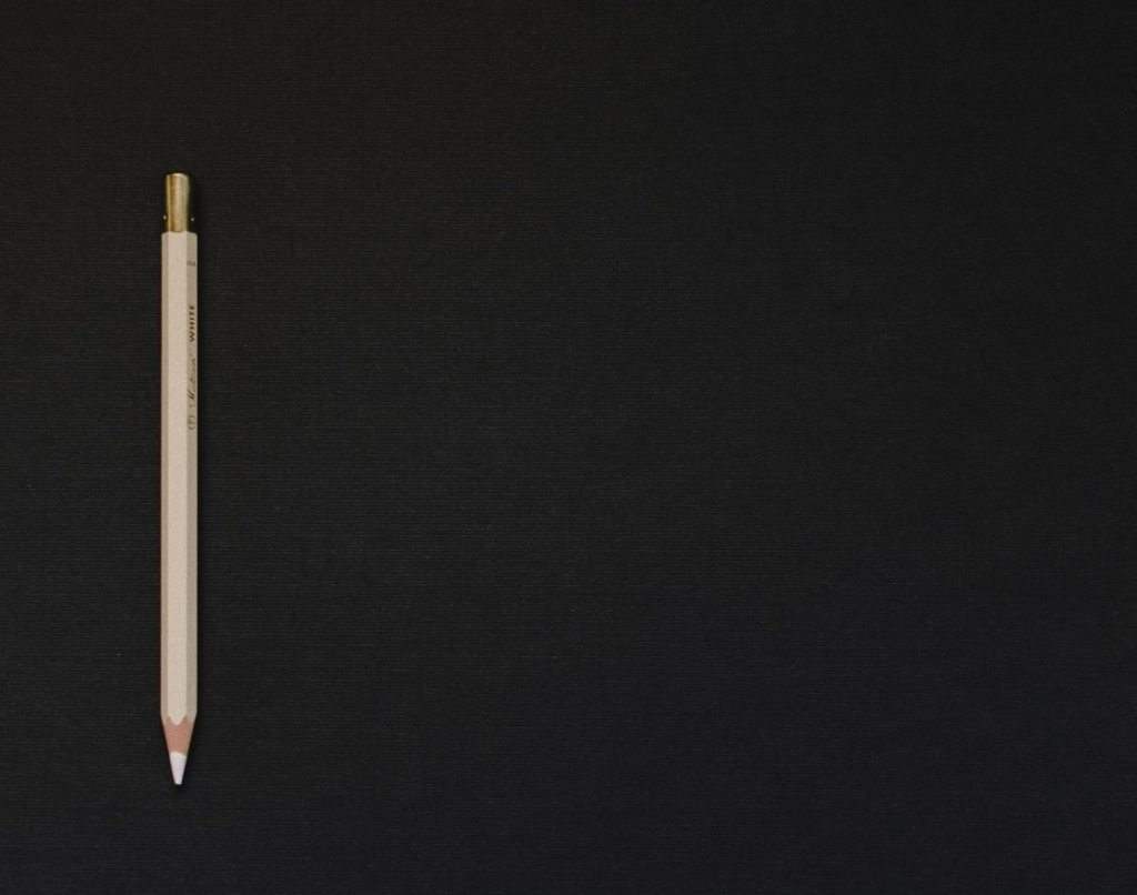 Image of pencil on blank background
