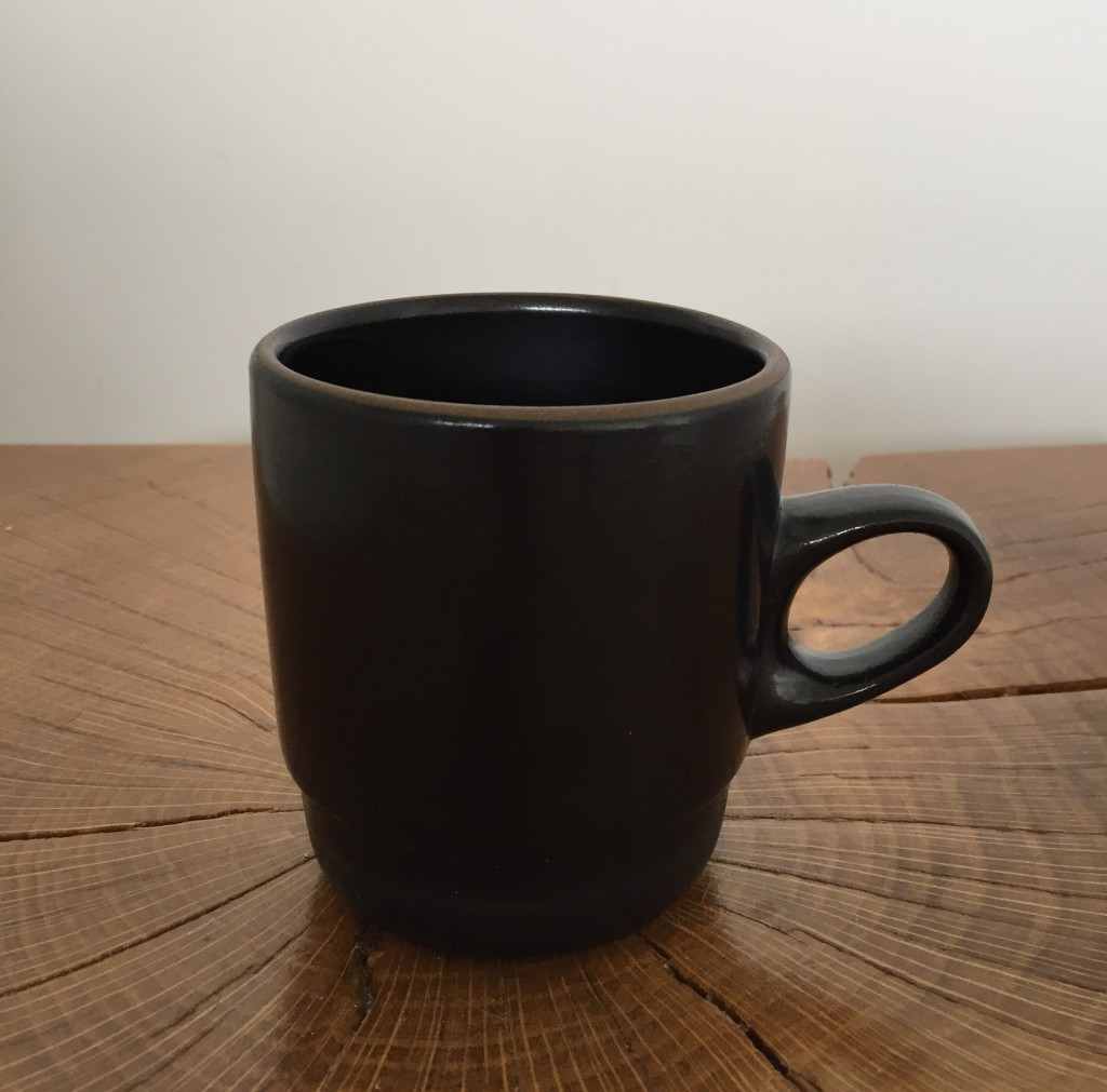 Image of black stoneware cup
